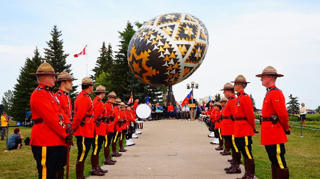 Vegreville Pysanka at 40/ Mazankowski Way