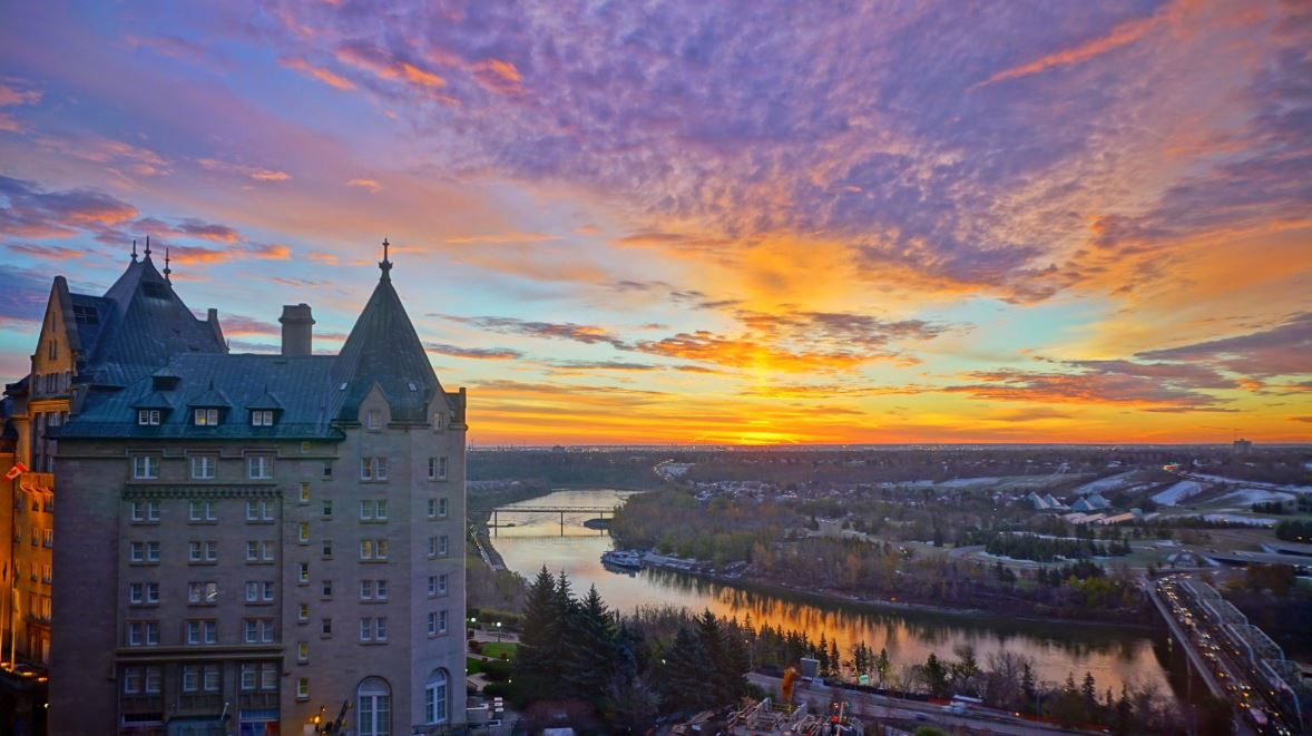 The Sunrises of Winter City Edmonton