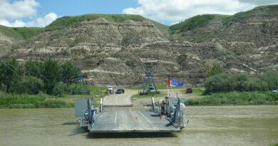 Bleriot Ferry One of Alberta's Last
